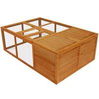 vidaXL Outdoor Foldable Wooden Animal Cage