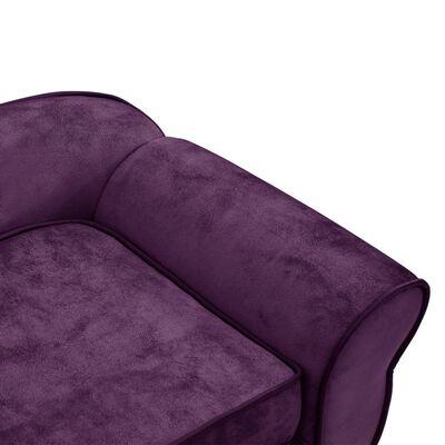 """vidaXL Dog Sofa Burgundy 28.3""""x17.7""""x11.8"""" Plush"""