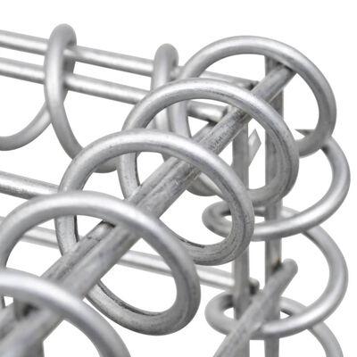 """vidaXL Gabion Basket Galvanised Steel 78.7""""x19.7""""x39.4"""""""