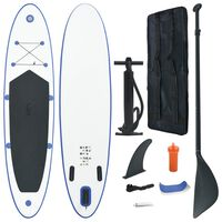 Stand Up Paddle Board Set SUP Surfboard Inflatable Blue and White