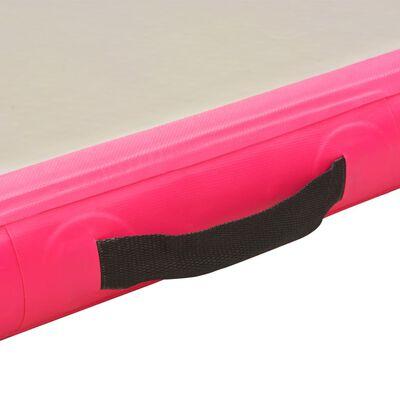"vidaXL Inflatable Gymnastics Mat with Pump 196.9""x39.4""x3.9"" PVC Pink"