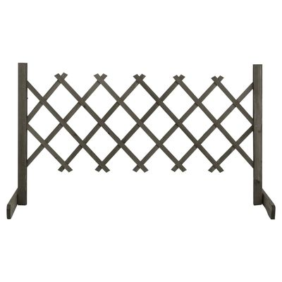 "vidaXL Garden Trellis Fence Gray 47.2""x23.6"" Solid Firwood"
