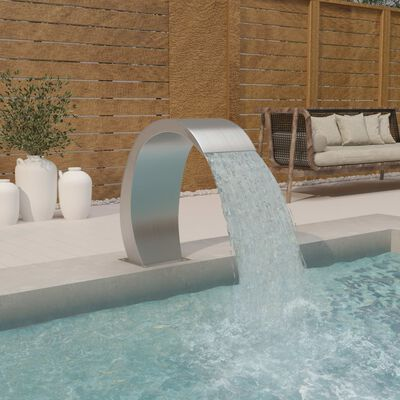 "vidaXL Pool Fountain 11.8""x23.6""x27.6"" Stainless Steel 304"
