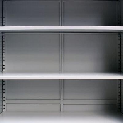 """vidaXL Office Cabinet 35.4""""x15.7""""x55.1"""" Steel Gray"""