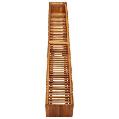 "vidaXL Garden Raised Bed 78.7""x11.8""x9.8"" Solid Acacia Wood"