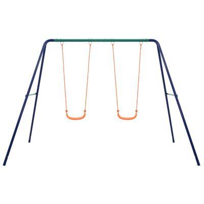 vidaXL Swing Set with 2 Seats Steel