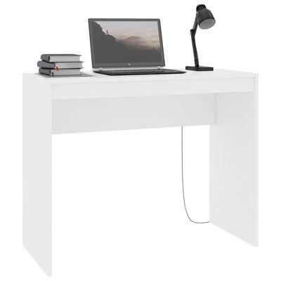 "vidaXL Desk White 35.4""x15.7""x28.3"" Chipboard"