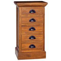 """vidaXL 5-Drawer Cabinet 13.8""""x11.8""""x23.6"""" Solid Teak Wood"""