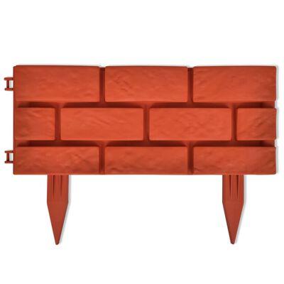 Lawn Divider with Brick Design 11 pcs