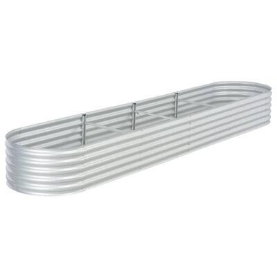 "vidaXL Garden Raised Bed 157.5""x31.5""x17.3"" Galvanised Steel Silver"