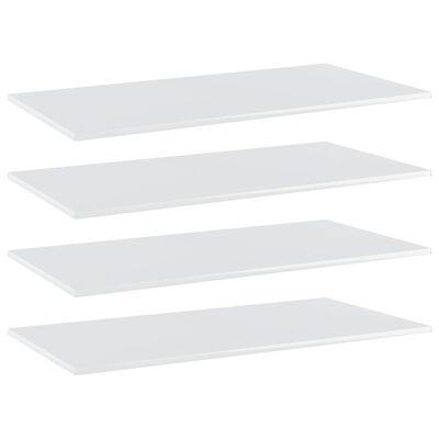 "vidaXL Bookshelf Boards 4 pcs High Gloss White 39.4""x19.7""x0.6"" Chipboard"