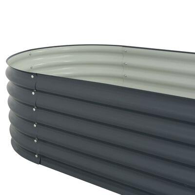 """vidaXL Garden Raised Bed 126""""x31.5""""x17.3"""" Galvanised Steel Gray"""