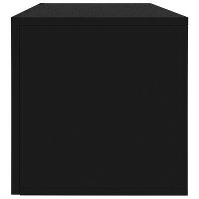 "vidaXL Vinyl Storage Box Black 28""x13.4""x14.2"" Chipboard"
