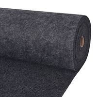 "vidaXL Exhibition Carpet Rib 78.7""x393.7"" Anthracite"