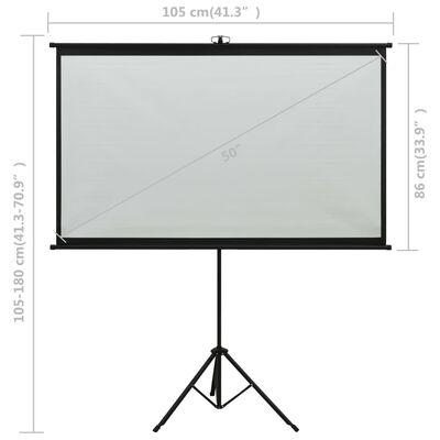 "vidaXL Projection Screen with Tripod 50"" 4:3"