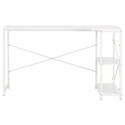 "vidaXL Computer Desk White 47.2""x28.3""x27.6"""