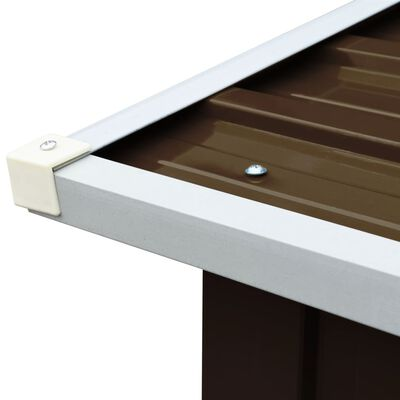 "vidaXL Log Storage Shed Galvanized Steel 67.7""x35.8""x60.6"" Brown"