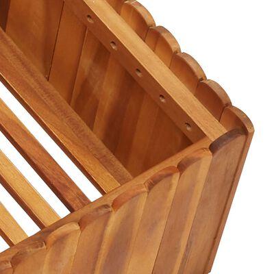 "vidaXL Garden Raised Bed 39.3""x39.3""x9.8"" Solid Acacia Wood"