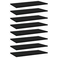 """vidaXL Bookshelf Boards 8 pcs Black 23.6""""x11.8""""x0.6"""" Chipboard"""