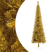 "vidaXL Slim Christmas Tree Gold 82.7"""