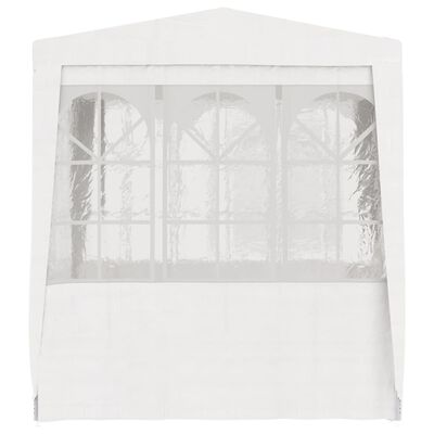 vidaXL Professional Party Tent with Side Walls 8.2'x8.2' White 90 g/m²