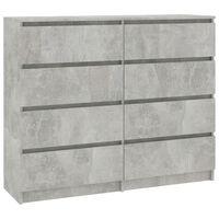 "vidaXL Drawer Sideboard Concrete Gray 47.2""x13.8""x39"" Chipboard"