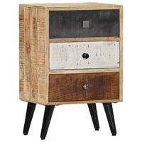 "vidaXL Bedside Cabinet 15.7""x11.8""x23.6"" Solid Mango Wood"
