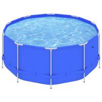 "vidaXL Swimming Pool with Steel Frame 144.5""x48"" Blue"