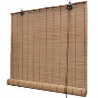 """vidaXL Roller Blind Bamboo 55.1""""x86.6"""" Brown"""