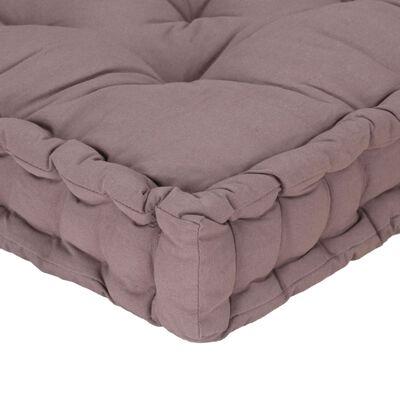 "vidaXL Pallet Floor Cushion Cotton 47.2""x31.5""x3.9"" Taupe"