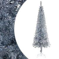 "vidaXL Slim Christmas Tree Silver 94.5"""