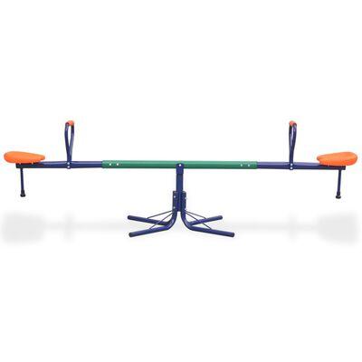 vidaXL 360-Degree Rotating Seesaw Orange