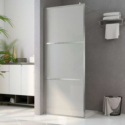 """vidaXL Walk-in Shower Wall with Whole Frosted ESG Glass 45.3""""x76.8"""""""