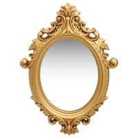 "vidaXL Wall Mirror Castle Style 22""x29.9"" Gold"