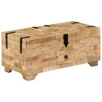 """vidaXL Coffee Table Solid Mango Wood 31.5""""x15.7""""x13"""