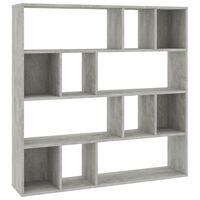 "vidaXL Room Divider/Book Cabinet Concrete Gray 43.3""x9.4""x43.3"" Chipboard"