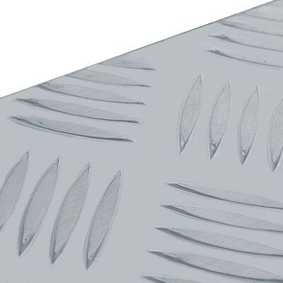 "vidaXL Aluminum Box 43.5""x15.2""x15.7"" Silver"