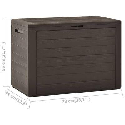 "vidaXL Garden Storage Box Brown 38.7""x17.3""x21.7"""