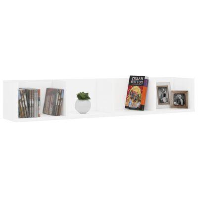 "vidaXL CD Wall Shelf White 39.4""x7.1""x7.1"" Chipboard"