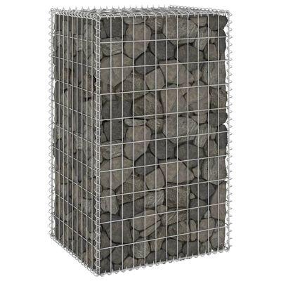 "vidaXL Gabion Wall with Covers Galvanized Steel 23.6""x19.7""x39.4"""