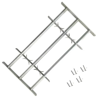 """Adjustable Security Grille for Windows with 3 Crossbars 27.6""""-41.3"""""""
