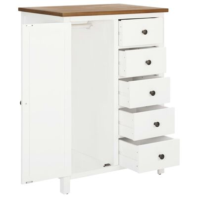"""vidaXL Wardrobe 29.9""""x20.5""""x41.3"""" Solid Oak Wood"""