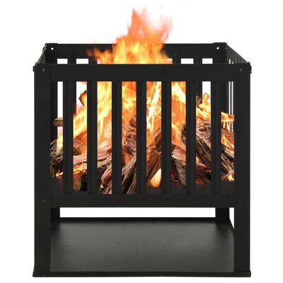 """vidaXL Fire Pit 15.7""""x15.7""""x15.7"""" Steel"""