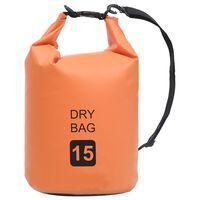 vidaXL Dry Bag Orange 4 gal PVC