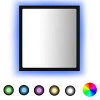 "vidaXL LED Bathroom Mirror Black 15.7""x3.3""x14.6"" Chipboard"