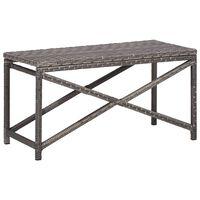 """vidaXL Garden Bench 31.5"""" Poly Rattan Gray"""