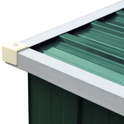 """vidaXL Garden Log Storage Shed Galvanized Steel 129.9""""x33.1""""x59.8"""" Green"""