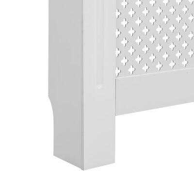 "vidaXL Radiator Cover White 59.8""x7.5""x32.1"" MDF"