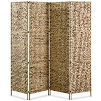 "vidaXL 4-Panel Room Divider 60.6""x63"" Water Hyacinth"