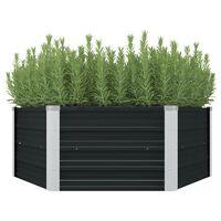 """vidaXL Raised Garden Bed Anthracite 50.8""""x50.8""""x17.7"""" Galvanized Steel"""